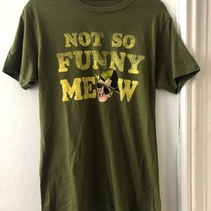 UO NEW super trooper not so funny meow oversized T
